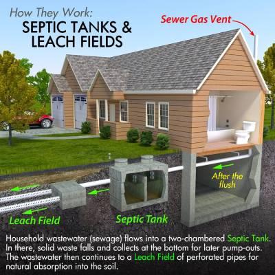septic tank system process